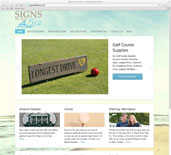 Signs by the Sea WordPress Website