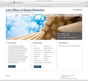 Law Office of Hasan Ramadan Website