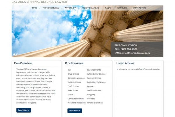 Law Office of Hasan Ramadan Website