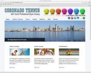 Coronado Tennis Wordpress Website