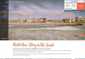 Hotel Del Website Home Page
