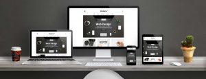 Different types of screen illustrating responsive design