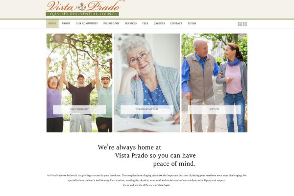 Vista Prado Website home page