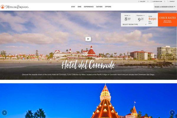 Hotel Del 2018 Website