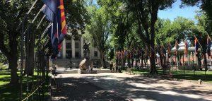 The Prescott Arizona downtown square