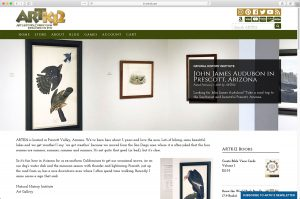 ARTK12 Typical blog page
