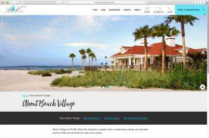 Beach Village at the Hotel del Coronado: About Page