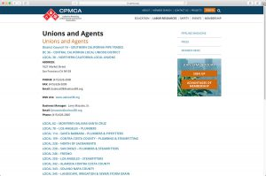 CPMCA Unions and Agents Page