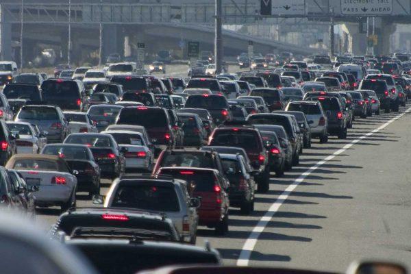 Bad traffic on the freeway