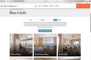 The Hotel del Coronado Rooms and Suites Page