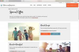 The Hotel del Coronado Special Offers Page