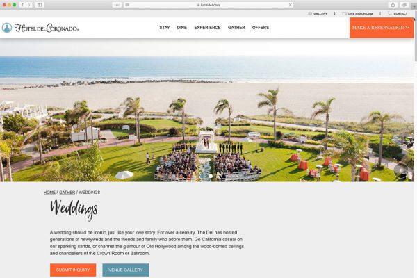Hotel Del Weddings Page