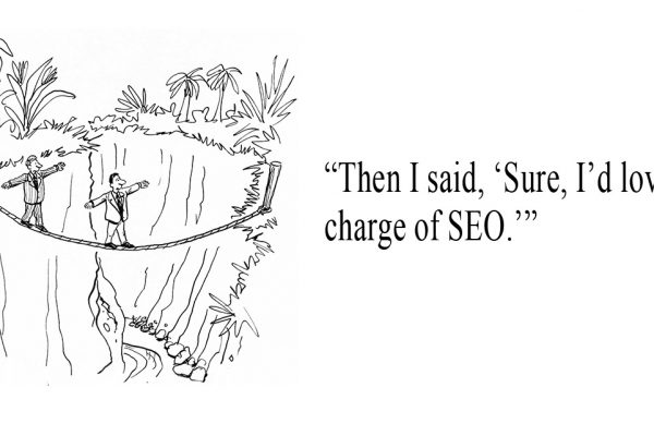 Then I said, Sure I'd love to be in charge of SEO.