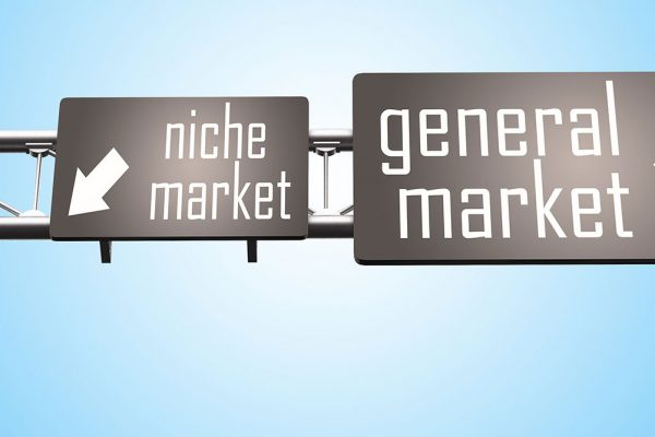 Two signs: niche market and general market