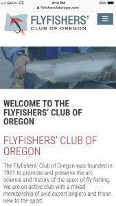 Flyfishers Club of Oregon Mobile View