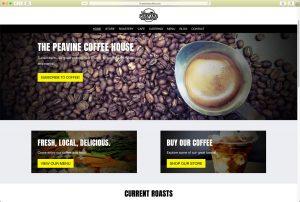 Peavine Coffee Home Page (located in Prescott Valley, Arizona)