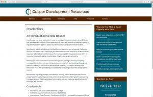 Casper Development typical sub page