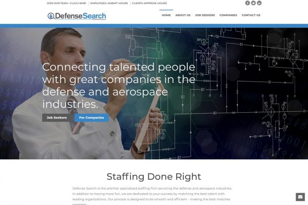 Defense Search home page
