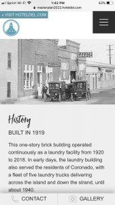 Hotel del Coronado Master Plan: Mobile History Page