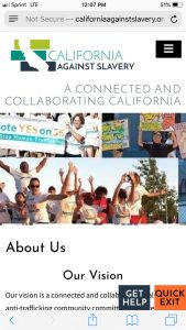 California Against Slavery Mobile: About Us Page